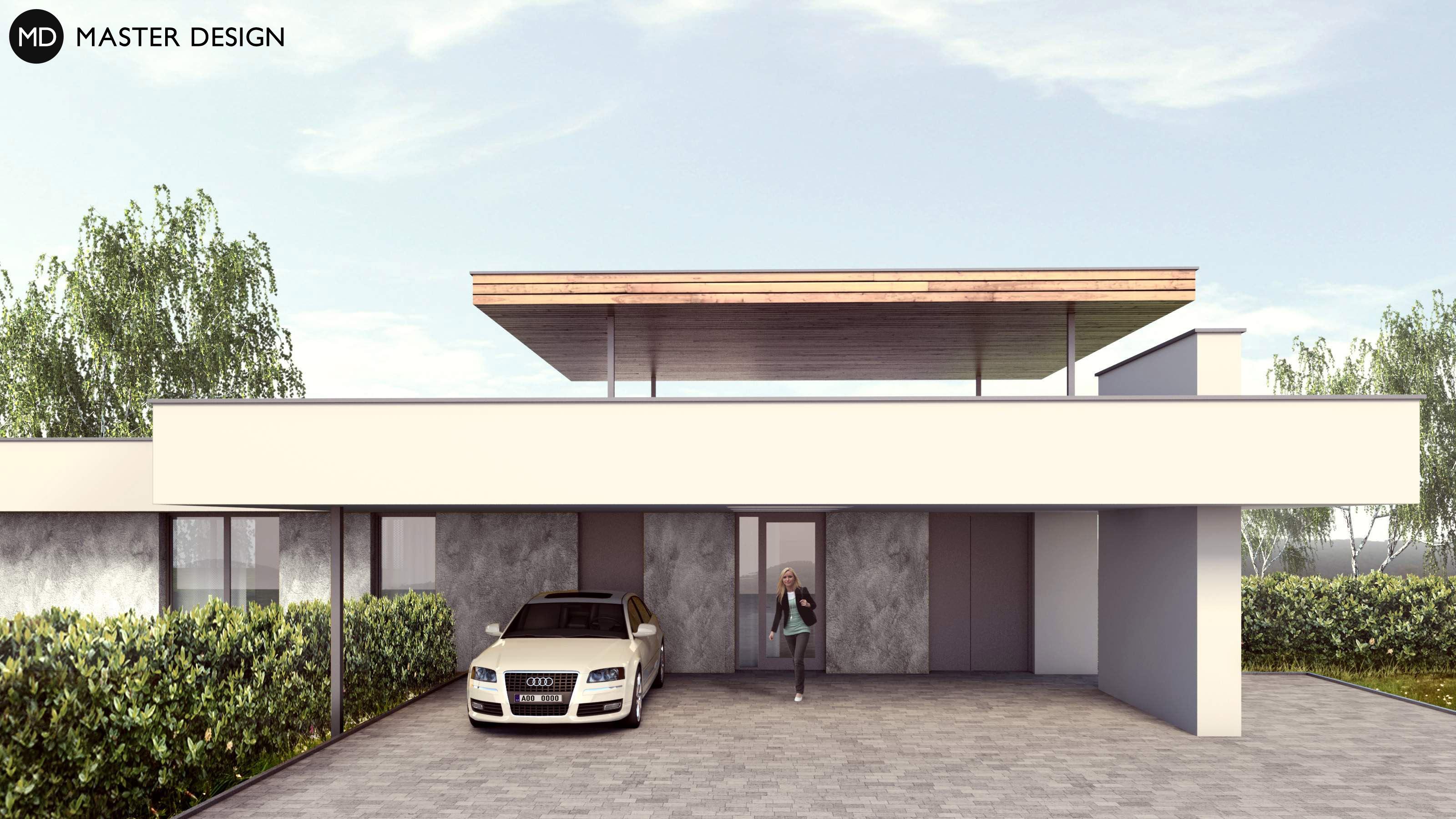L shaped bungalow with roof terrace levín u berouna vizualizace 2