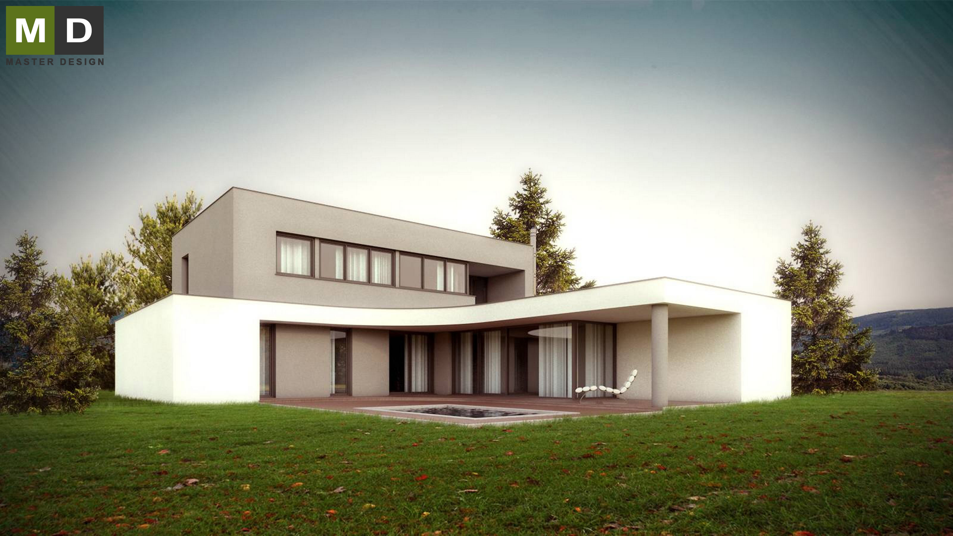 Attractive Home Design Zlín Part - 6: ... Luxury Low-energy L-shaped House With A Green Roof - Zlín - Vizualizace  ...