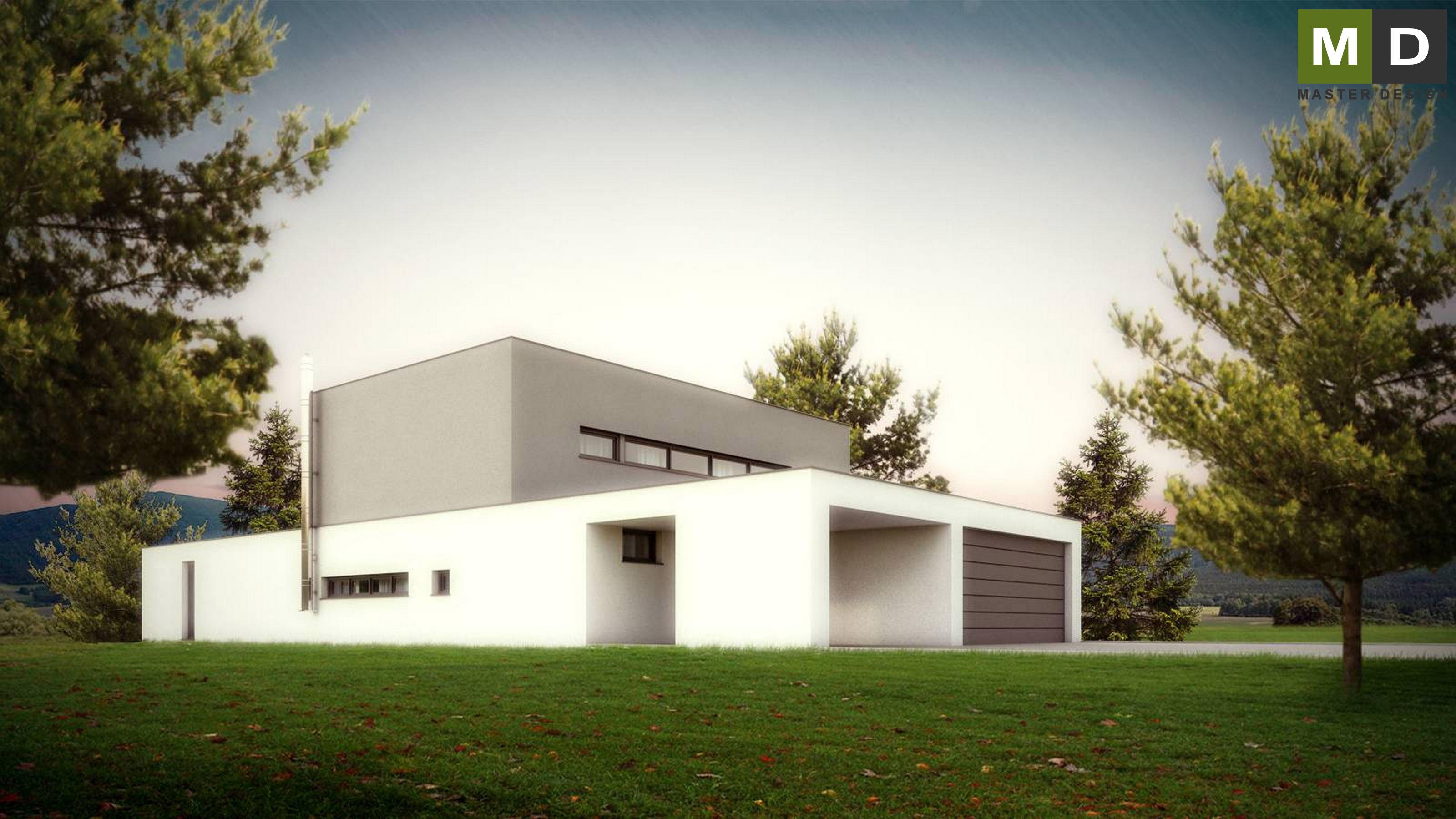 Nice Home Design Zlín Part - 5: ... Luxury Low-energy L-shaped House With A Green Roof - Zlín - Vizualizace  ...