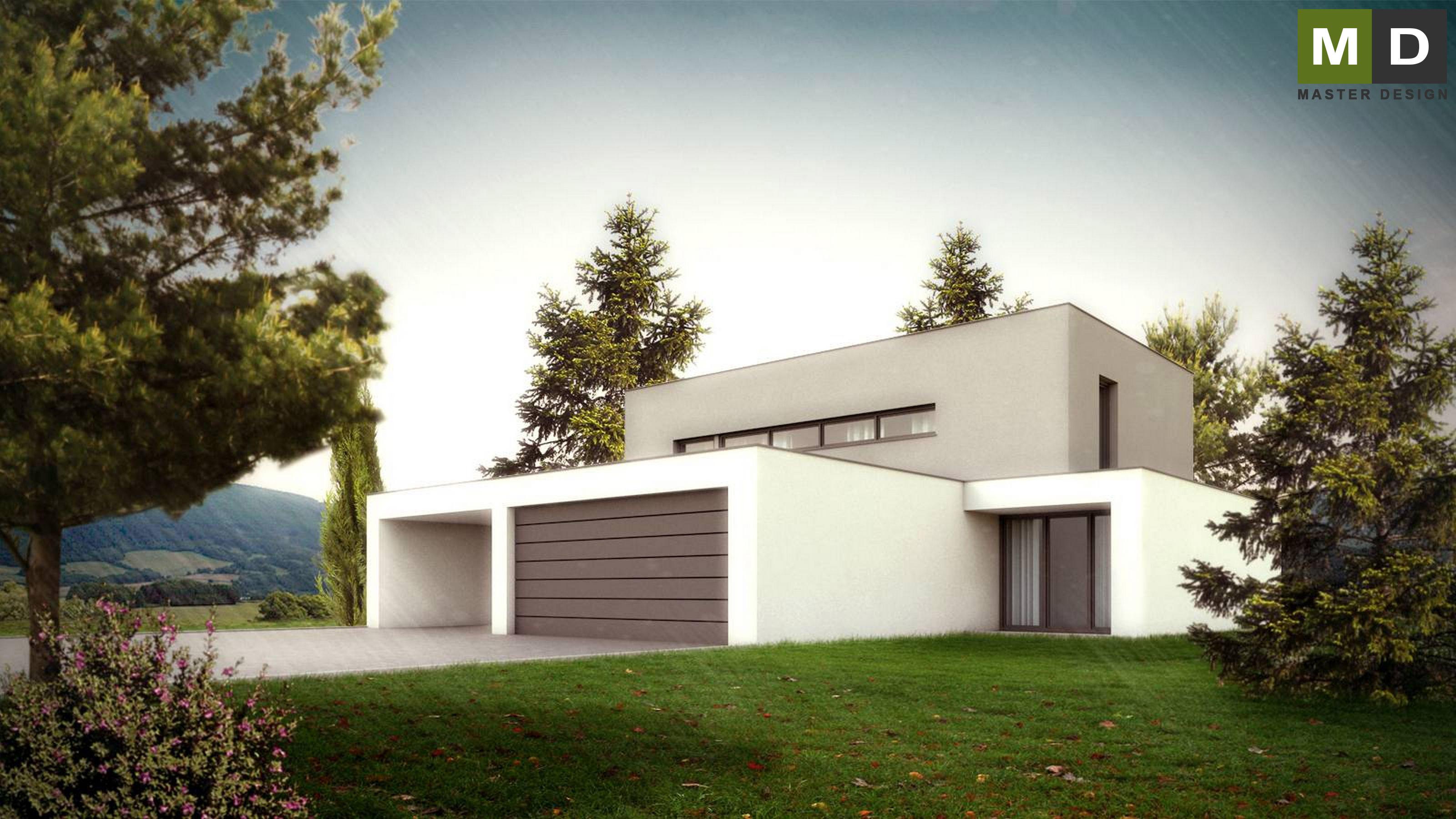 Home Design Zlín Part - 20: ... Luxury Low-energy L-shaped House With A Green Roof - Zlín - Vizualizace  ...