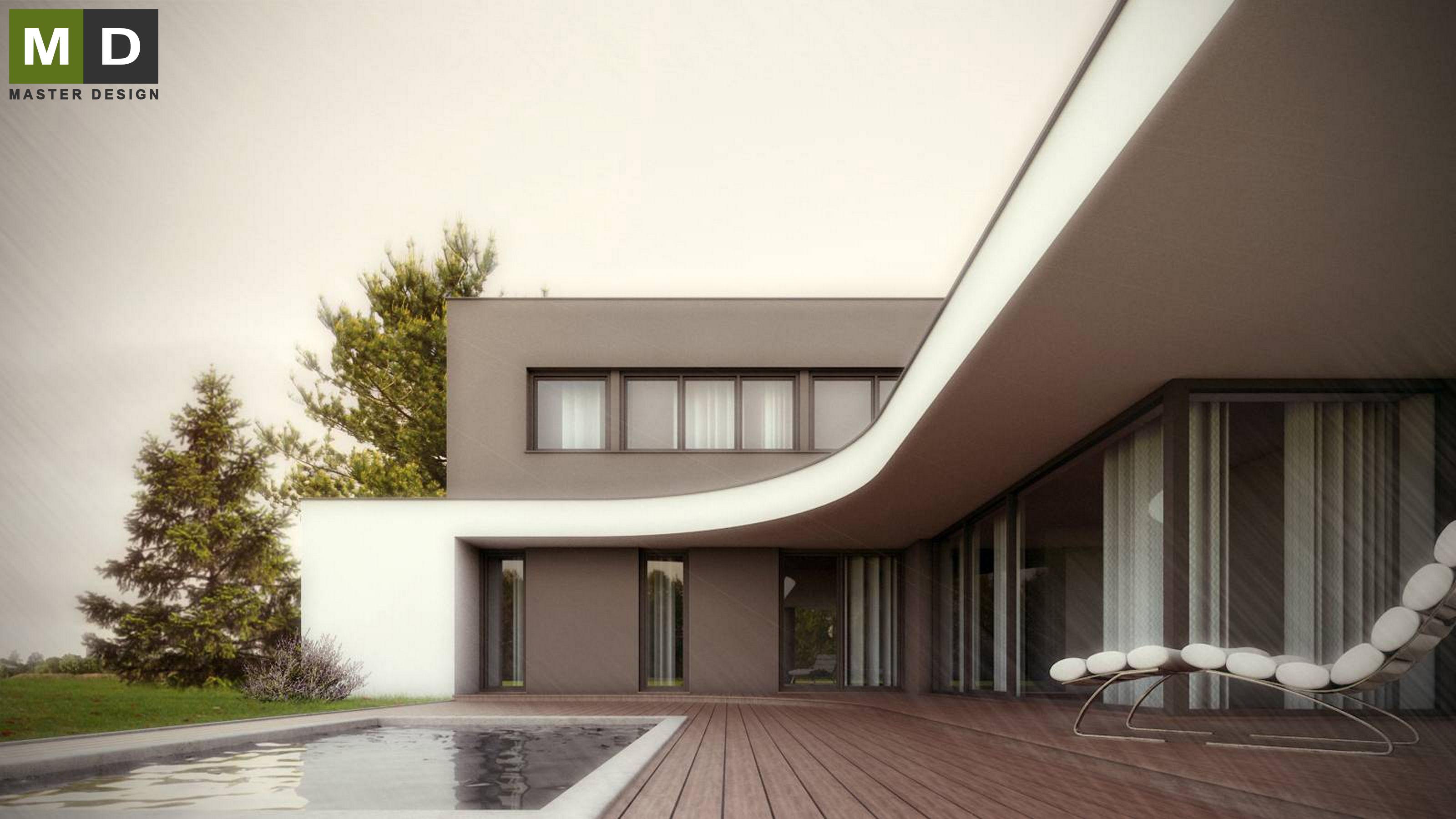 Superior Home Design Zlín Part - 2: Luxury Low-energy L-shaped House With A Green Roof - Zlín - Vizualizace ...