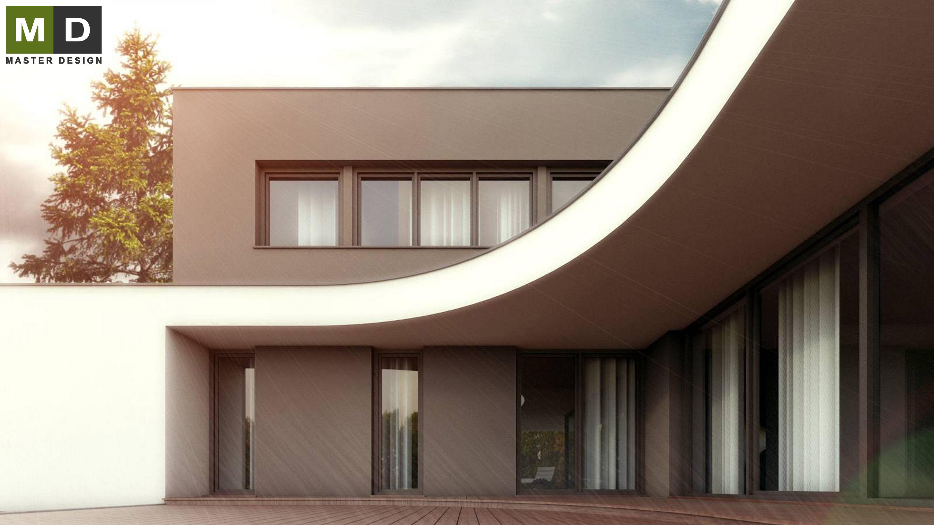 Wonderful Home Design Zlín Part - 11: ... Luxury Low-energy L-shaped House With A Green Roof - Zlín - Vizualizace  ...
