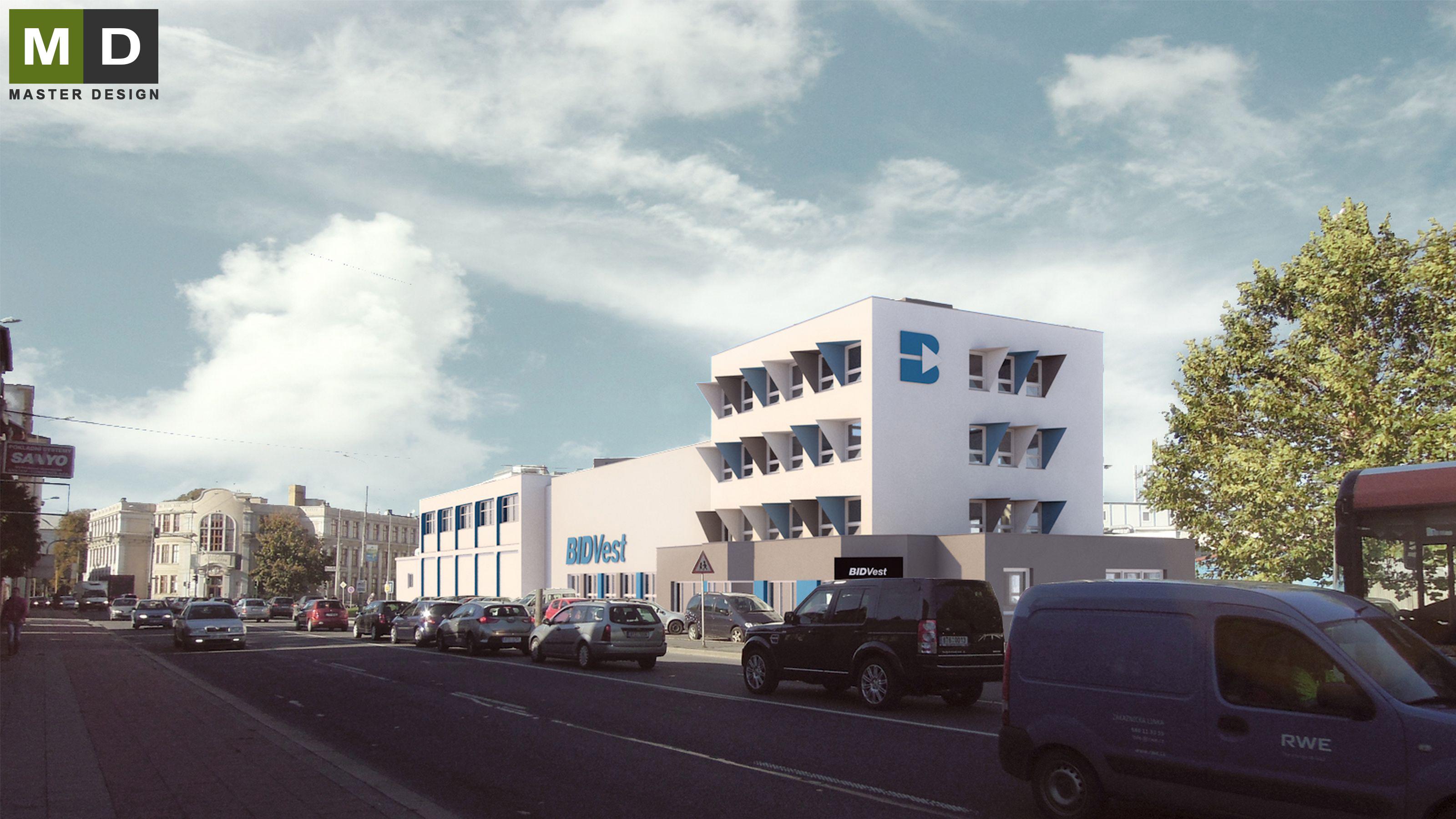 office building facades. Design Of Office Building Facades - Opava Vizualizace 1 O
