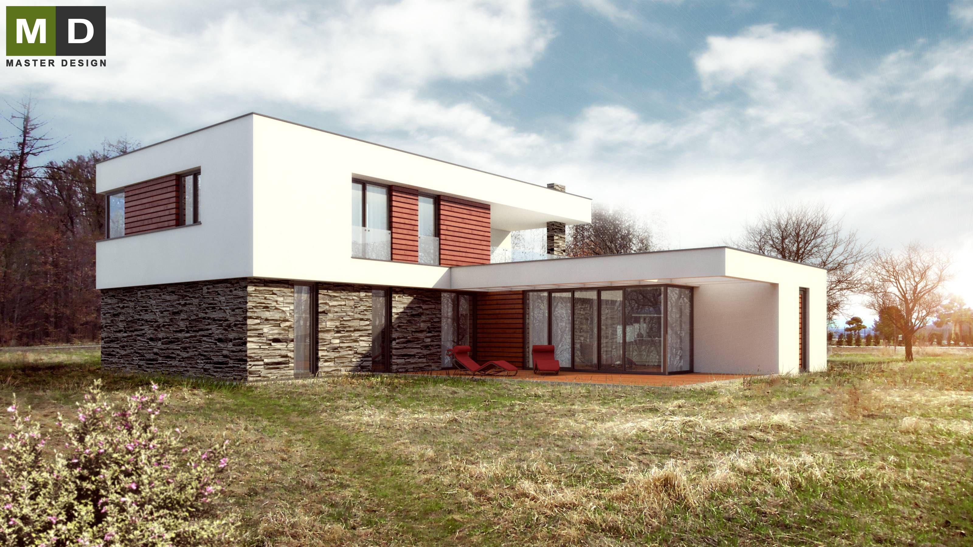 Amazing Home Design Zlín Part - 4: ... Luxury Low Energy House With A Flat Roof - Zlín - Vizualizace 1 ...
