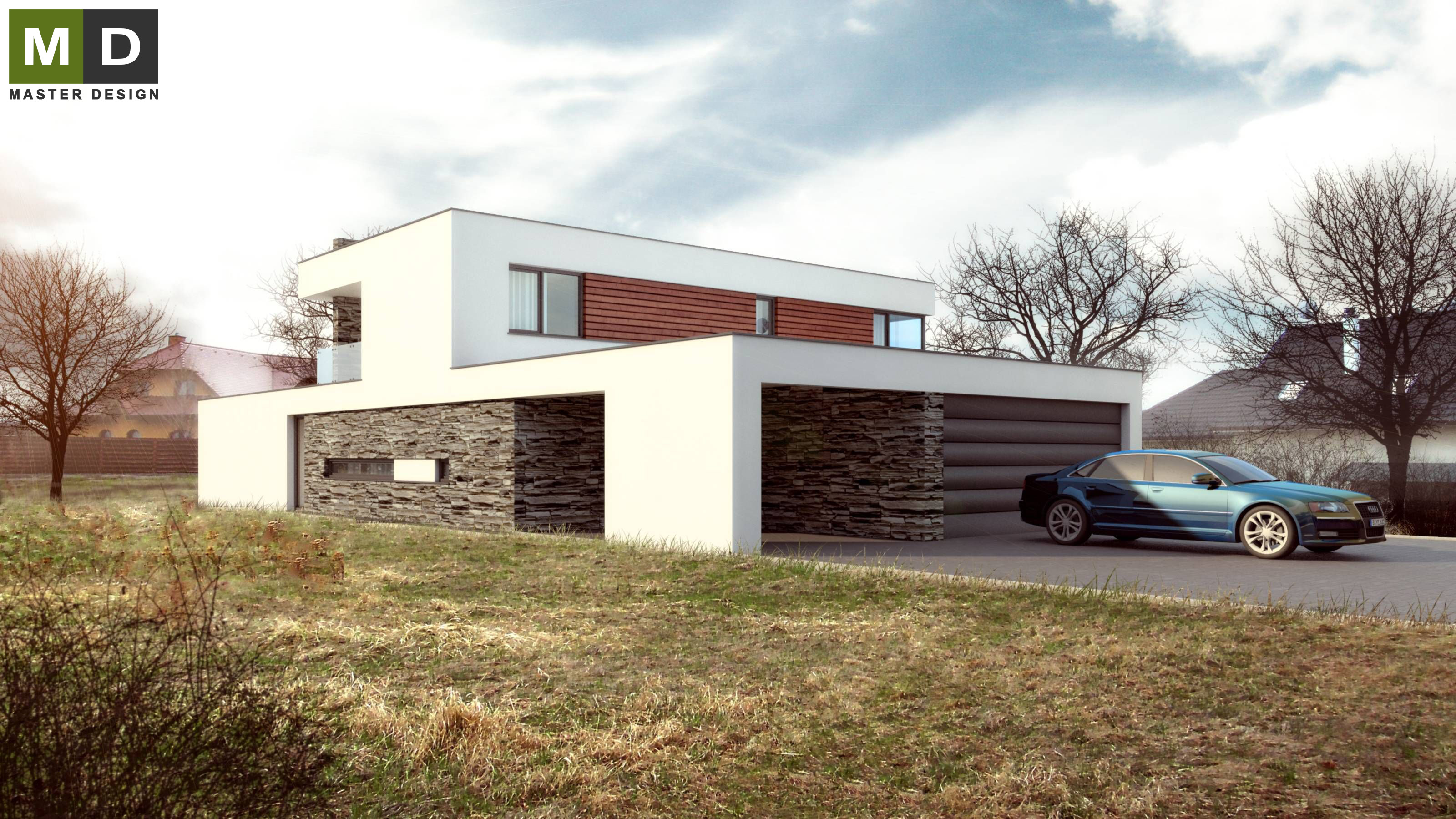 Delightful Home Design Zlín Part - 3: Luxury Low Energy House With A Flat Roof - Zlín - Vizualizace 2 ...
