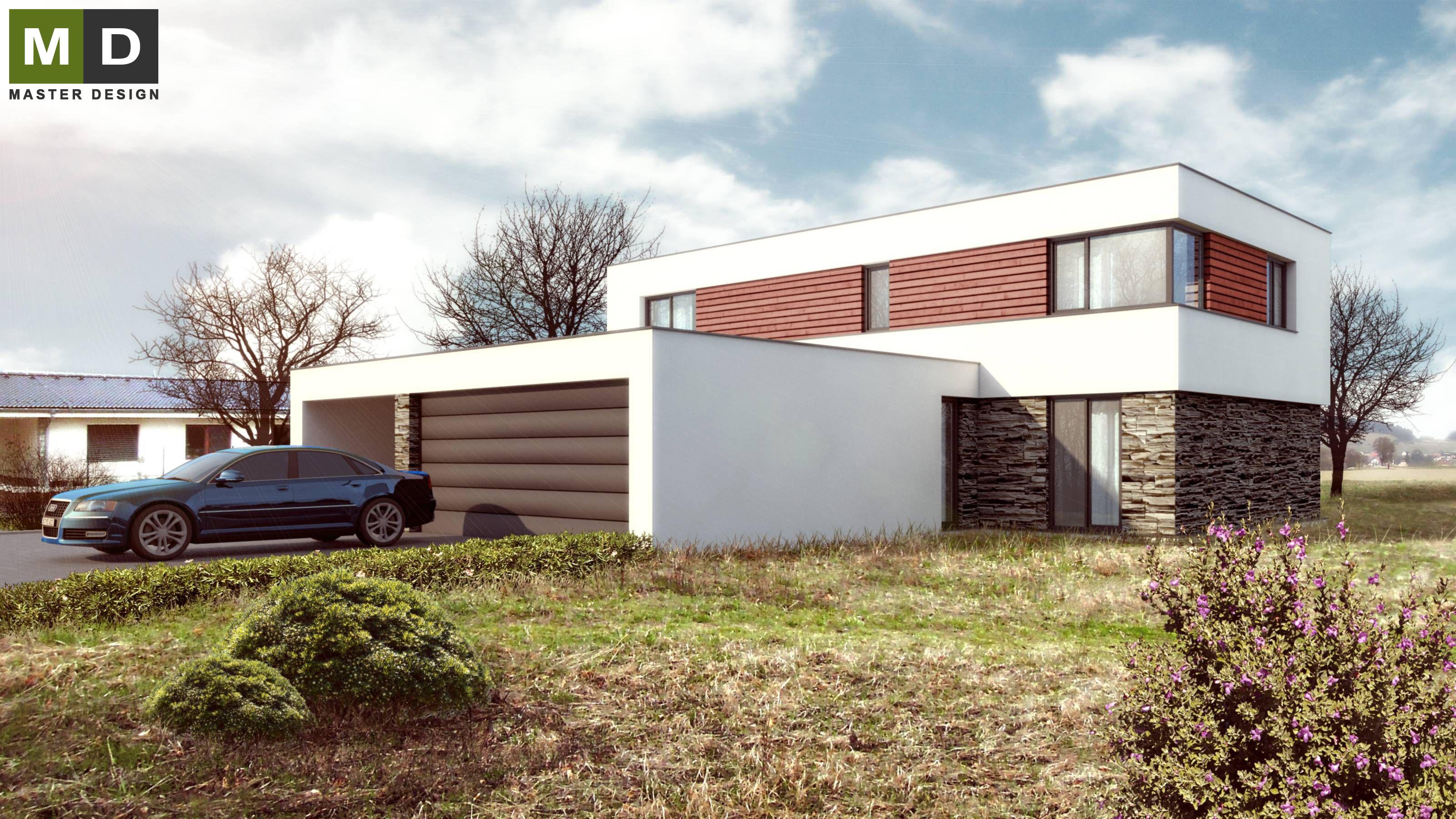 Exceptional Home Design Zlín Part - 12: ... Luxury Low Energy House With A Flat Roof - Zlín - Vizualizace 3 ...