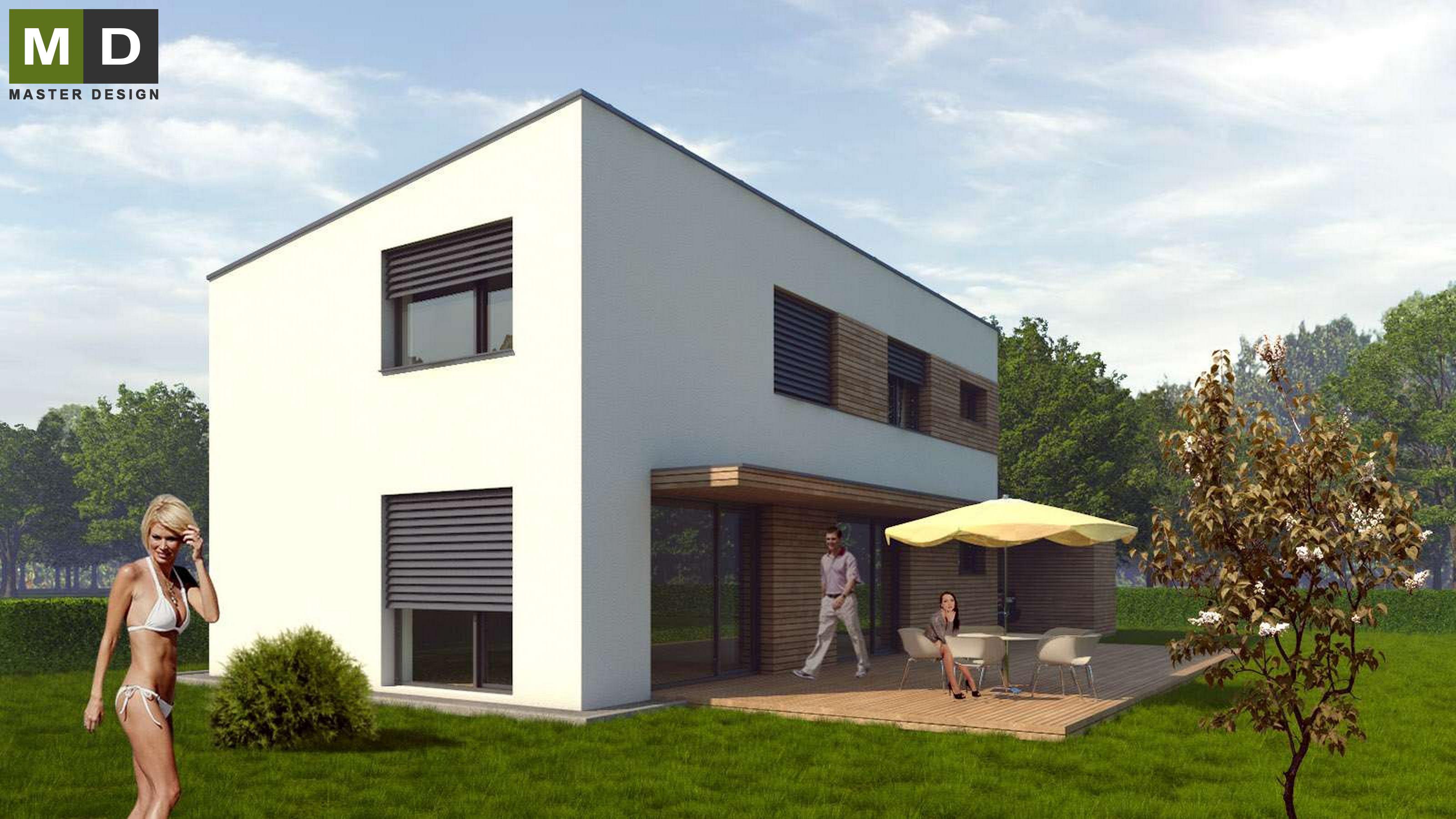 ... Type Passive House With A Flat Roof   Developer Project   Vizualizace 3  ...