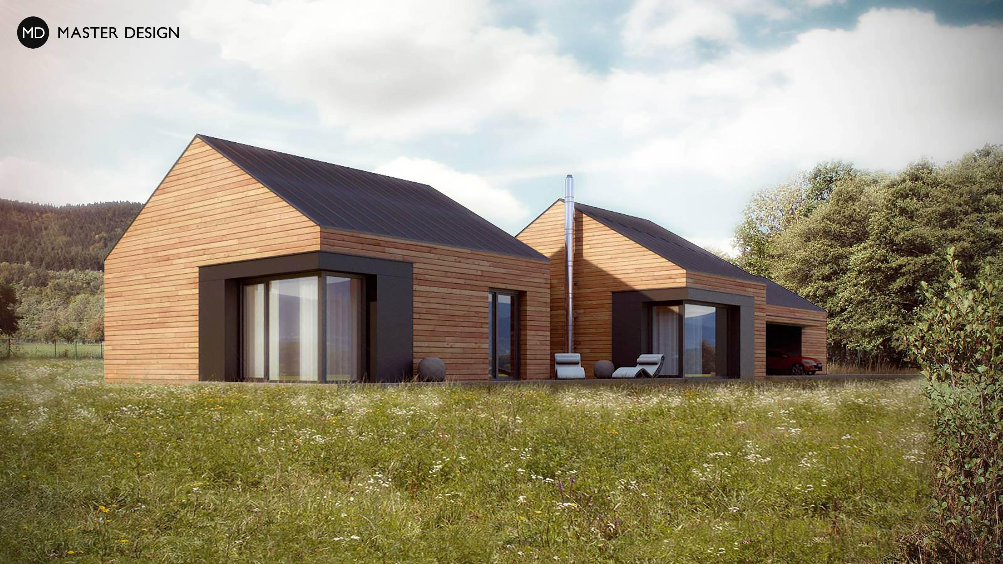 Moderní domy se sedlovou střechou